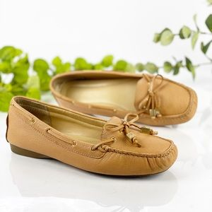 Michael Kors Honey Tan Leather Loafer Boat Shoe